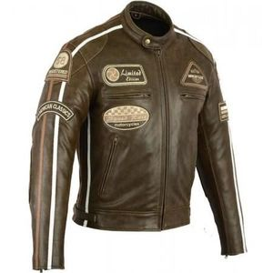BLOUSON - VESTE Blouson Moto Cuir Vintage - Biker