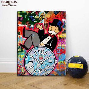 TABLEAU - TOILE Alec Monopoly Graffiti Art Home Décor Peinture à l
