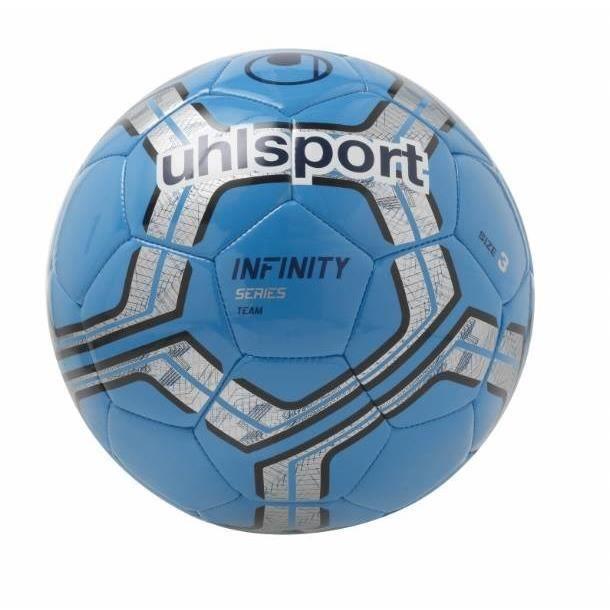 UHLSPORT Ballon de football Infinity Team - Bleu cyan et gris argenté - Taille 3