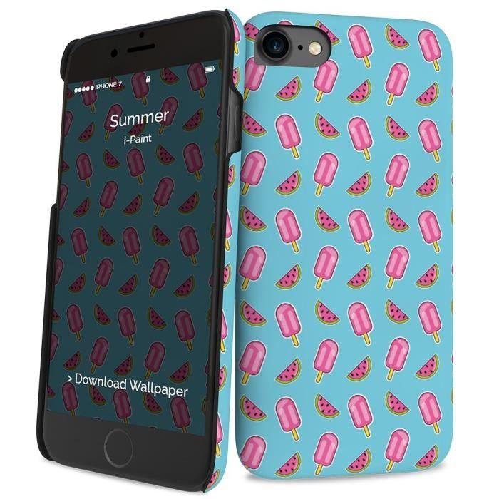 I-PAINT Coque pour iPhone 7 - Summer - Bleu