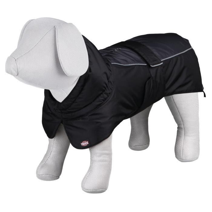 TRIXIE Manteau d'hiver Prime S: 33 cm noir/gris pour chien