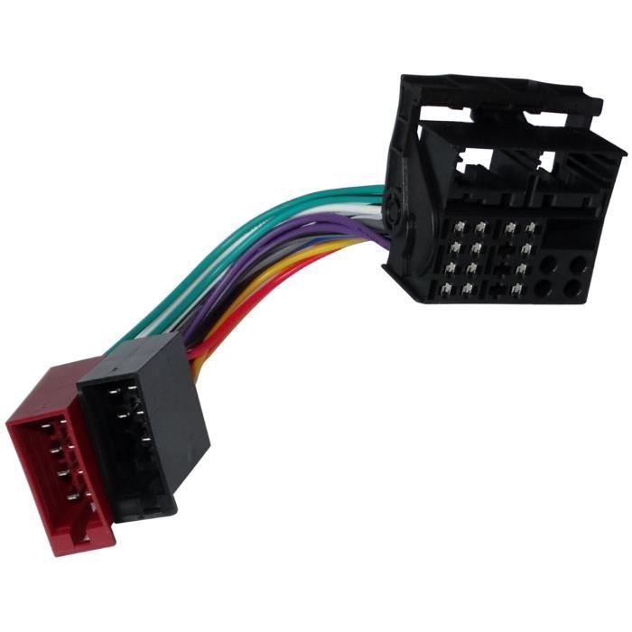 aerzetix adaptateur faisceau c ble fiche iso pour autoradio d 39 origine compatible avec ford. Black Bedroom Furniture Sets. Home Design Ideas