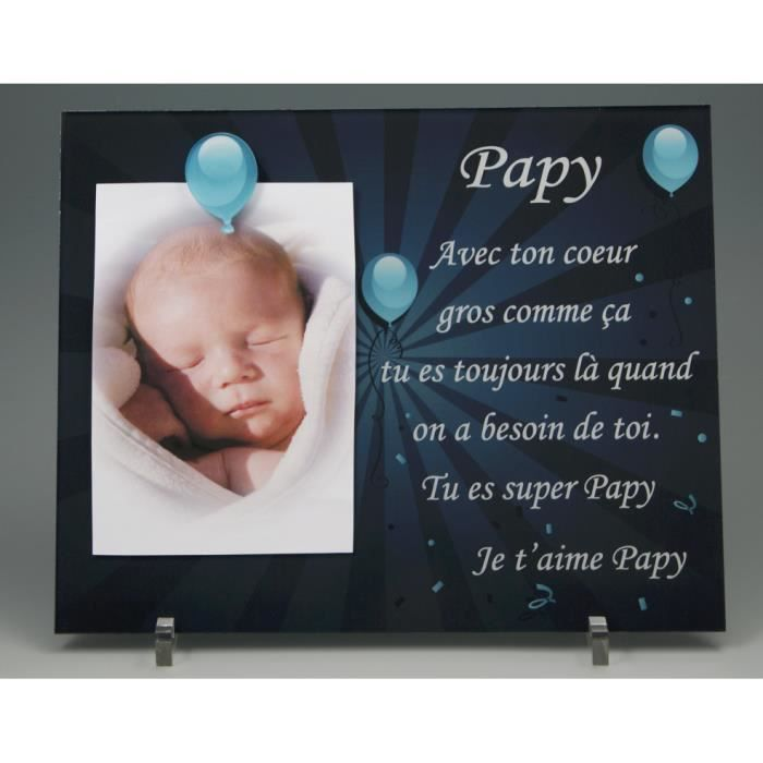 cadre photo aimant pour papy cadeaux originaux pour papi et mamie f te des grands p res. Black Bedroom Furniture Sets. Home Design Ideas