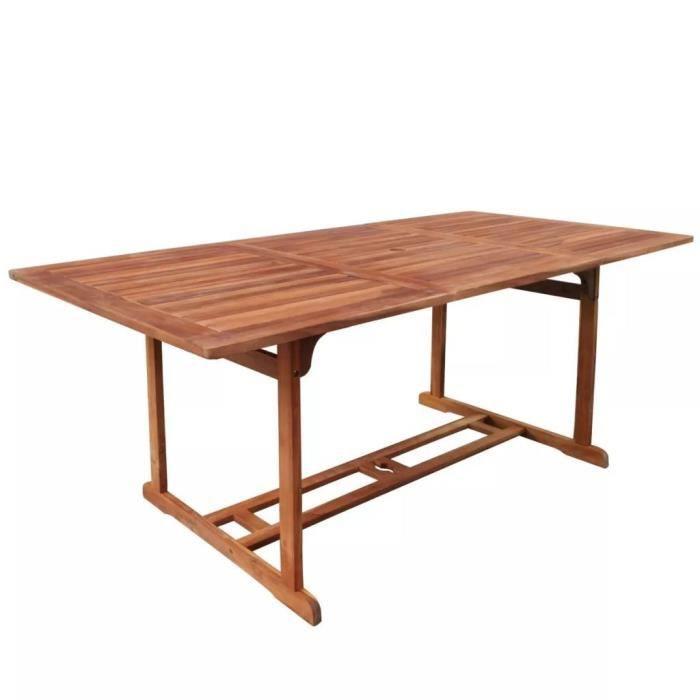 Ensembles de meubles d\'exterieur Table : Couleur : Marron Materiau : bois  d\'acacia avec une finition en huile