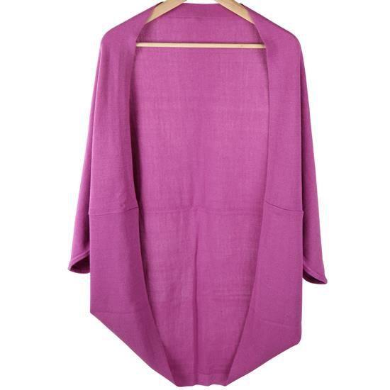 Violet Souris En Taille Chauve Veste Manches Gilet Unique Tricot X5EfwaqnxS