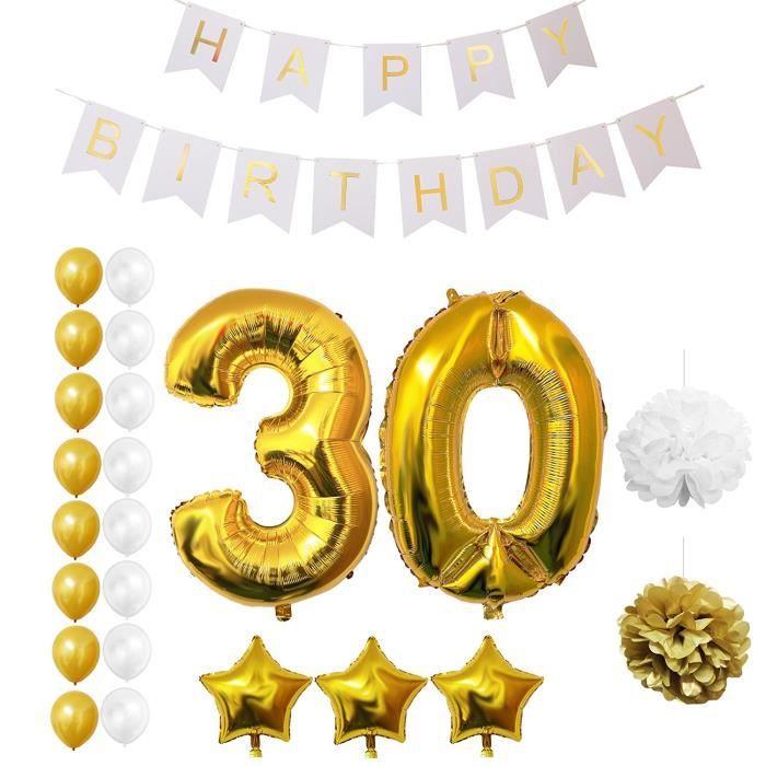D coration anniversaire 30 ans achat vente d coration for Decoration 30 ans