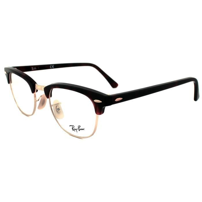 Ban Frames 5154 Red 2372 Clubmaster Ray Glasses 51mm Havana EHWD2I9