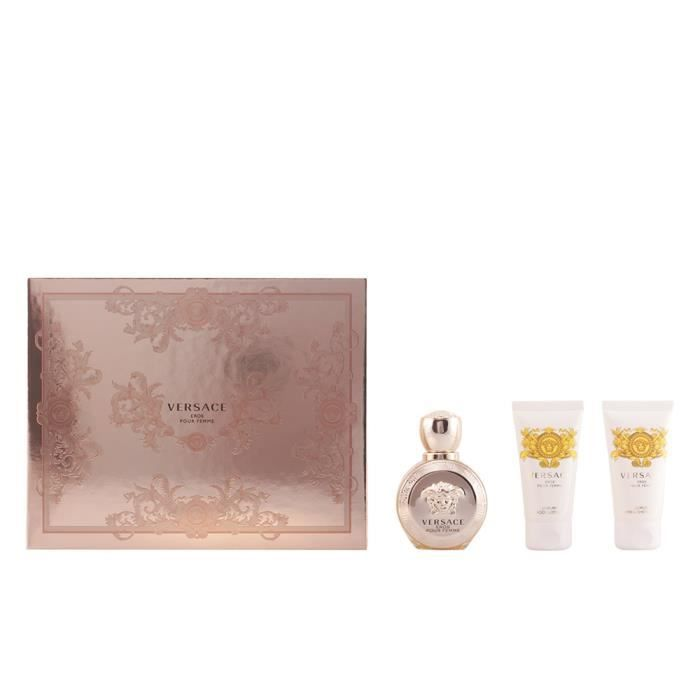 De 50 Coffret Eau Parfum MlLotion Pour Femme Versace Eros kXw8OPNn0