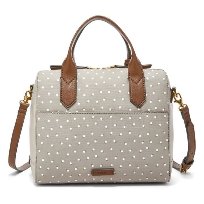 Fossil - Sac à main bowling Fiona (zb7272) 727greywhitetaille 20.32 cm