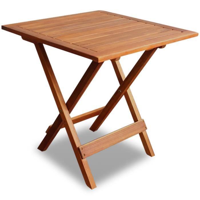 Table Basse d\'Appoint de Jardin en Acacia Haute qualité pliant pratique  pour Salon plein air pique-nique