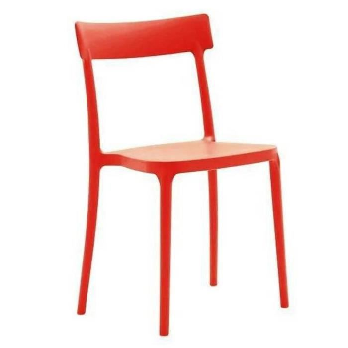 chaise chaise empilable argo rouge - Chaise Empilable