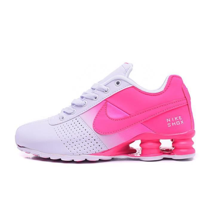 huge selection of 1339f 3b022 ... closeout femme nike shox deliver baskets chaussures de sport blanc rose  31e9a 752f5