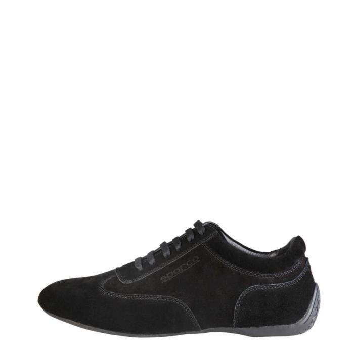 Sparco - Chaussures en daim noir Imola
