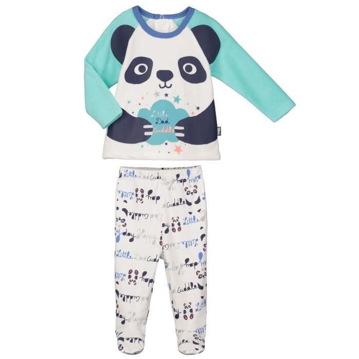 f53ff36a8e8da Pyjama bébé 2 pièces avec pieds Pandalapin - Taille - 12 mois (80 cm ...
