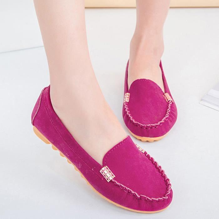 Femmes Flats Mesdames Comfy Ballet Chaussures Soft Slip-On Casual Bateau Chaussures @XMM71214532HOT