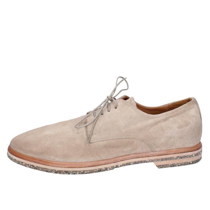 92a3c5719f45 MOMA Chaussures Homme Derbies Daim Beige BT526 Beige Beige - Achat ...
