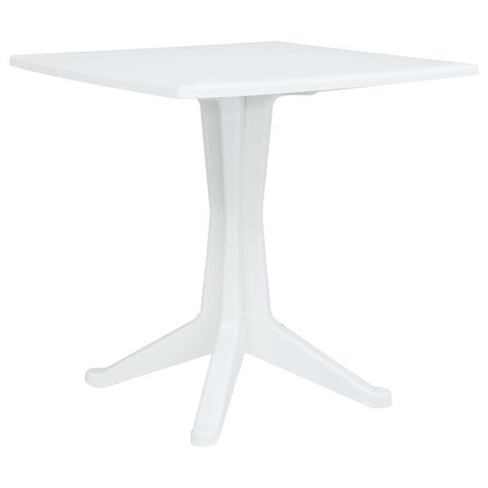 Table et chaises de jardin en plastique blanc - Achat / Vente pas cher