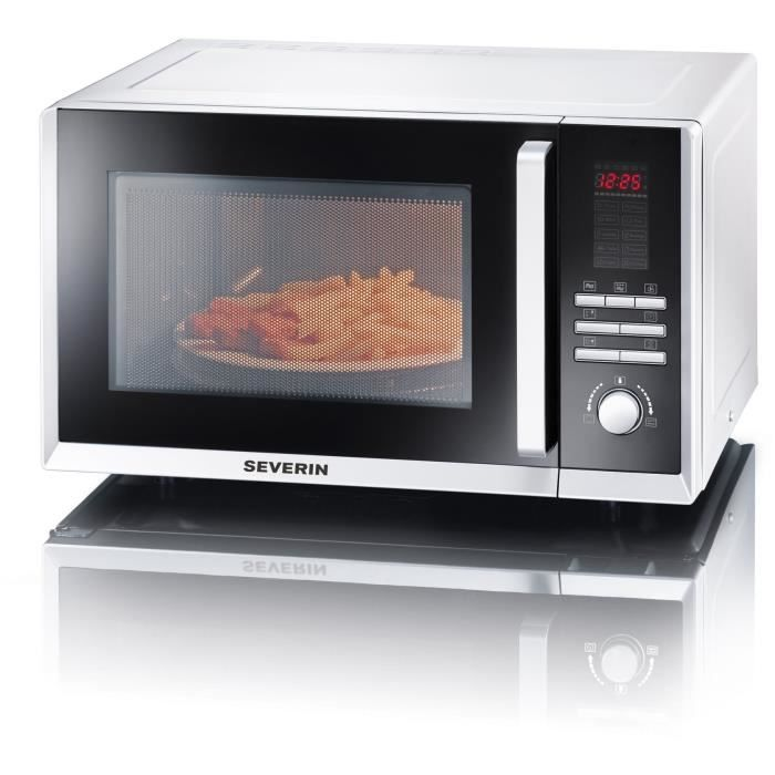 severin mw 9672 micro-ondes combiné blanc - 23 l - 800 w - grill