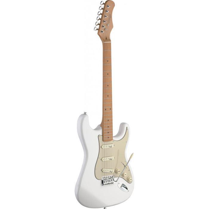 Guitare électrique avec corps en aulne blanc crème - Achat ...