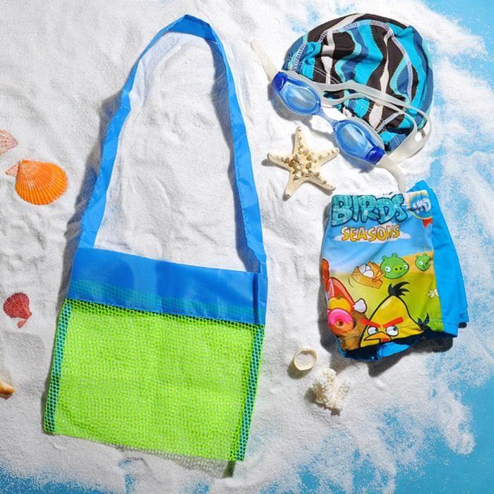 stockage sac enfants jouets de plage messager sac Vert