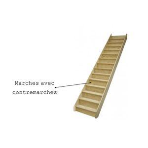 escalier droit achat vente escalier droit pas cher cdiscount. Black Bedroom Furniture Sets. Home Design Ideas