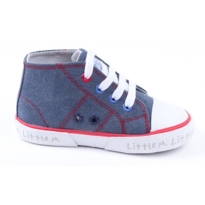 Baskets montantes toile jeans - Little Mary