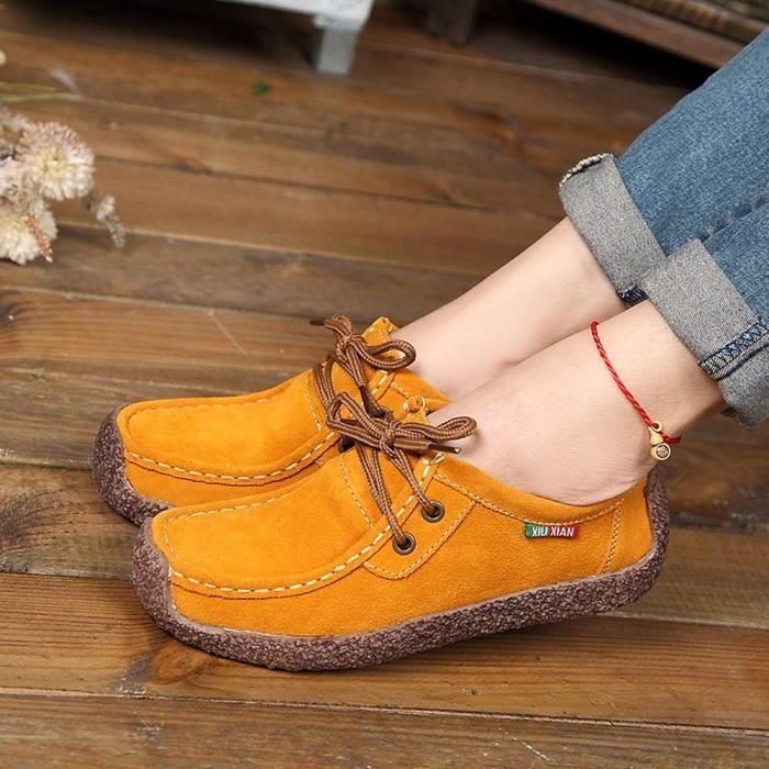Fashion Bottom y Leisure Peas Shoes 5616 Femmes Flat Non Jaune Sneakers Strap slip rUTrRqax