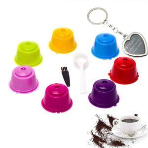 DISTRIBUTEUR CAPSULES 7 Pcs Coloré Capsules Rechargeables à Cafe Compati
