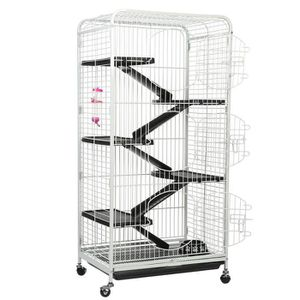 CAGE Cage de Lapin en Fer à 5 Couches Avec 3 Portes Ava