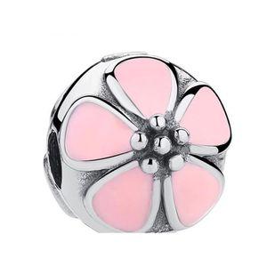 Charm's Charm Clip Fleur Rose pour fit Pandora