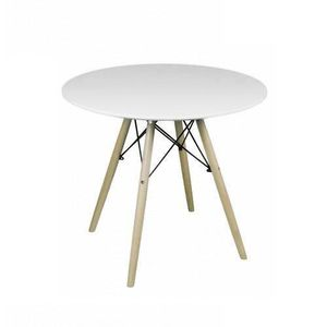 TABLE À MANGER SEULE Table à manger blanc laqué mat style scandinave No