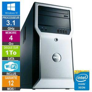 UNITÉ CENTRALE  PC Dell Precision T1600 Xeon E3-1225 3.10GHz 4Go/1
