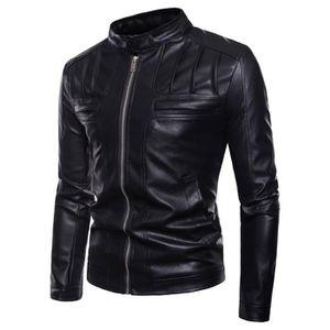 BLOUSON Blouson Homme Perfecto Court Jacket Mode PU Veste