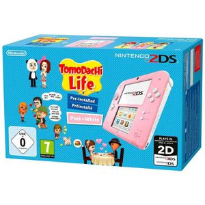 CONSOLE NEW 2DS XL Nintendo 2DS Console Rose/Blanc + Tomodachi Life