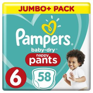 COUCHE Pampers Baby-Dry Pants Taille 6, 15+ kg, 58 Couche