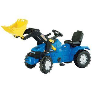 TRACTEUR - CHANTIER Tracteur à pédales Bleu avec pelle ROLLY TOYS NEW