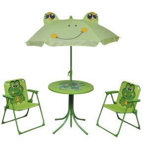 SALON DE JARDIN  vidaXL Jeu de mobilier de jardin pour enfants 4 pc