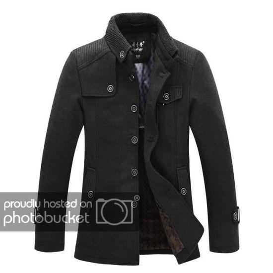 Coat Laine D'affaires Homme En Duffle Manteau 1wdq018