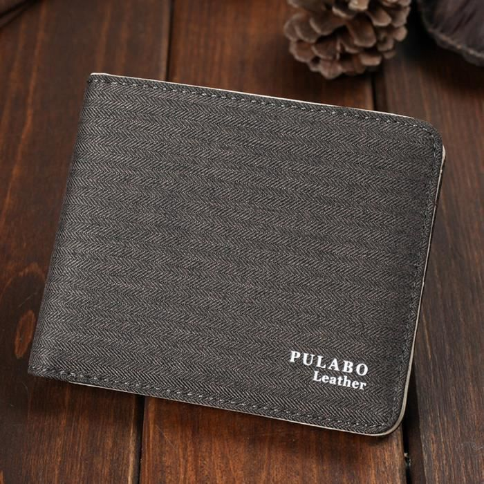Portefeuille Cafe Hommes Bifold Purse Carte Crougeit Gaufrage 071 Poche Toile Embrayage qHwHEg6ax
