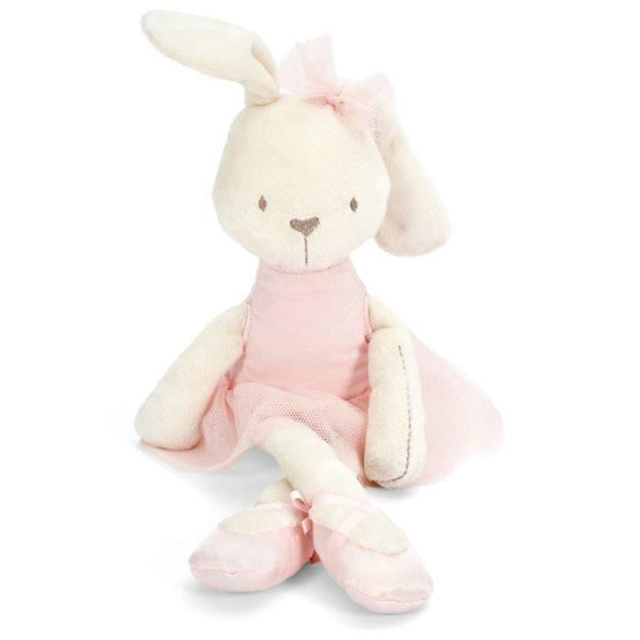 Mamas & papas bunny lapin jouet 42cm longueur mignon adorable jouets en peluche pour les bébés enfants Rose