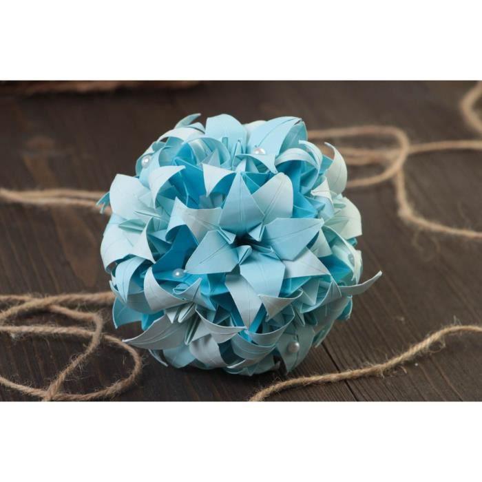 boule bleu papier achat vente boule bleu papier pas cher cdiscount. Black Bedroom Furniture Sets. Home Design Ideas
