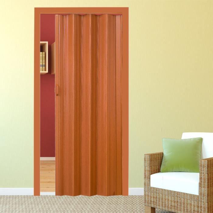 porte coulissante en pvc 80 x 203 cm marrone achat vente porte coulissante porte coulissante. Black Bedroom Furniture Sets. Home Design Ideas