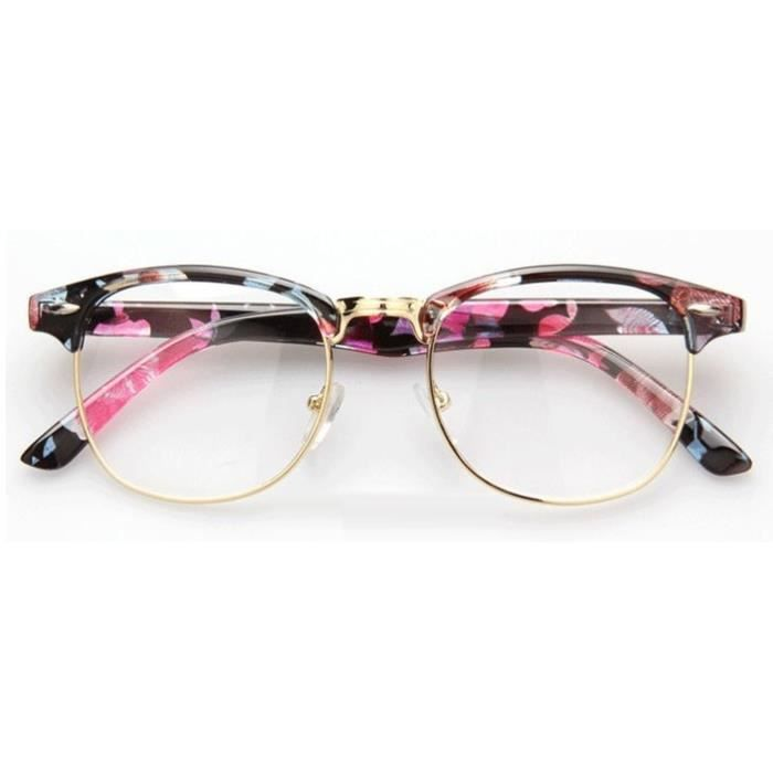 Lunettes style Clubmaster Flower