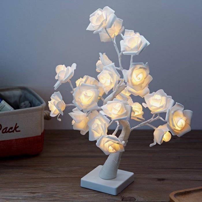 Led Guirlande Lumineuse Arbre Lumineux 24 Fleurs Des Lumieres Lampe