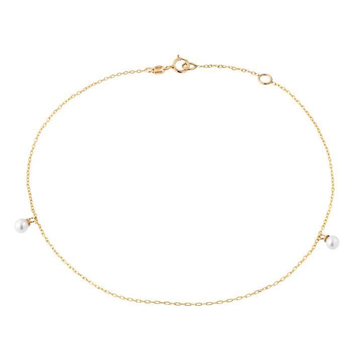 Chaîne de Cheville CLEOR Or 375/1000 Perle