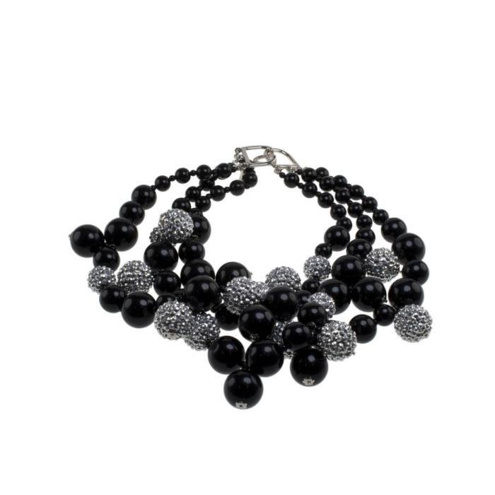Kenneth Jay Lane Plaqué Argent Femmes Collier Cristal Perle de longueur 40,64cm 1I6HV2