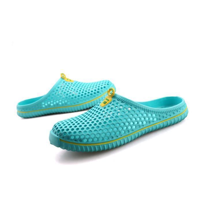 pantoufles d'été des homme Haut qualité santal dame chaussures de jardin glissent sur pantoufles de plage extérieur perméable à GoAbfV5i