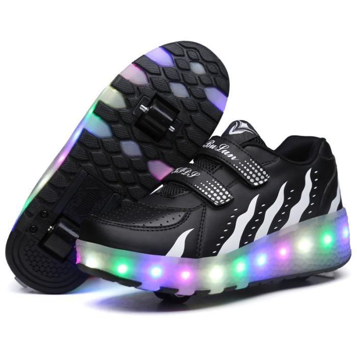 roulettes Chaussure à Chaussures rouleaux éclairer Femme rouleaux roue s'allume Chaussures Homme qui alléger LED Sneaker à enfant de XIqwrX