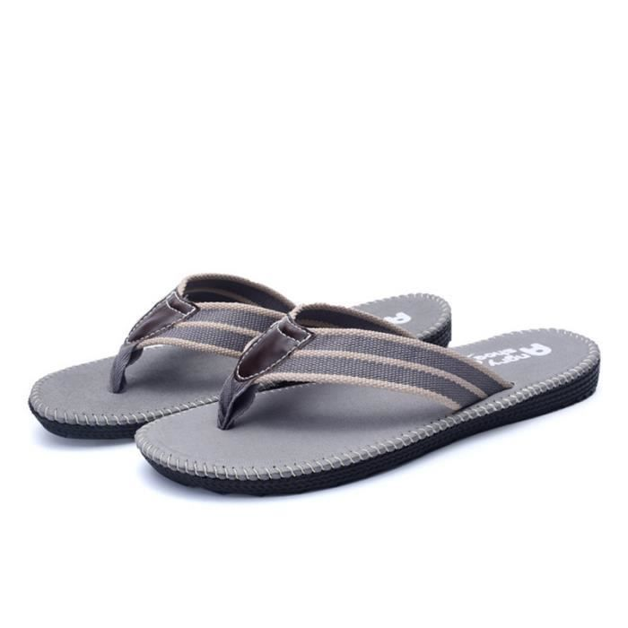 Chaussure homme 2017 de luxe Tongs nouvelle marque sandale homme Nouvelle Mode chaussures de plage Grande Taille 44 F5baZ9L
