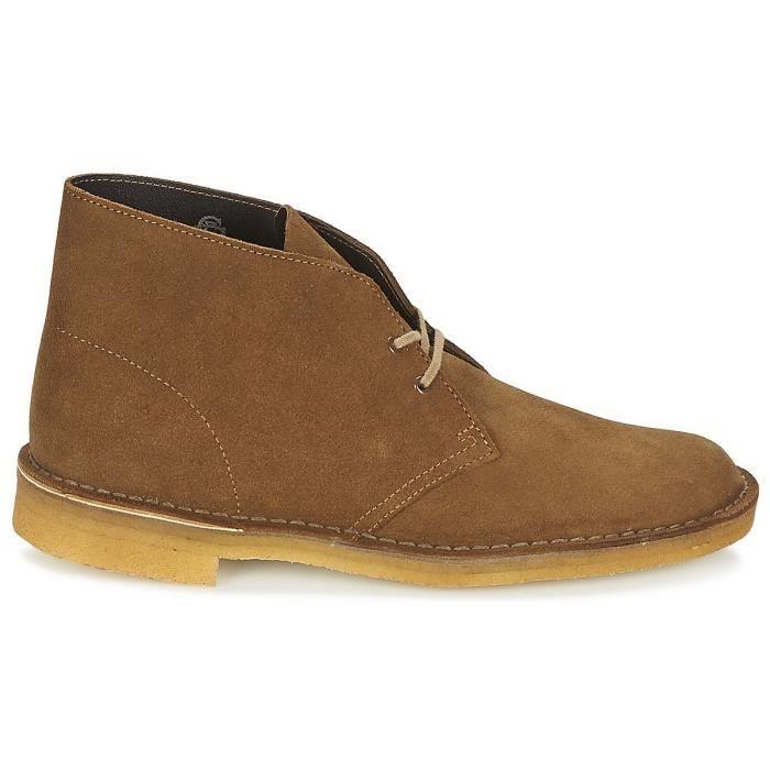 Boot Clarks Desert Boot - 26138230 Marron Marron - Achat   Vente ... f19f23f86d25